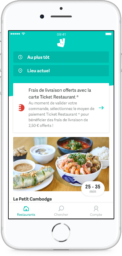 deliveroo carte ticket restaurant Signature of an agreement between Deliveroo and Edenred: French