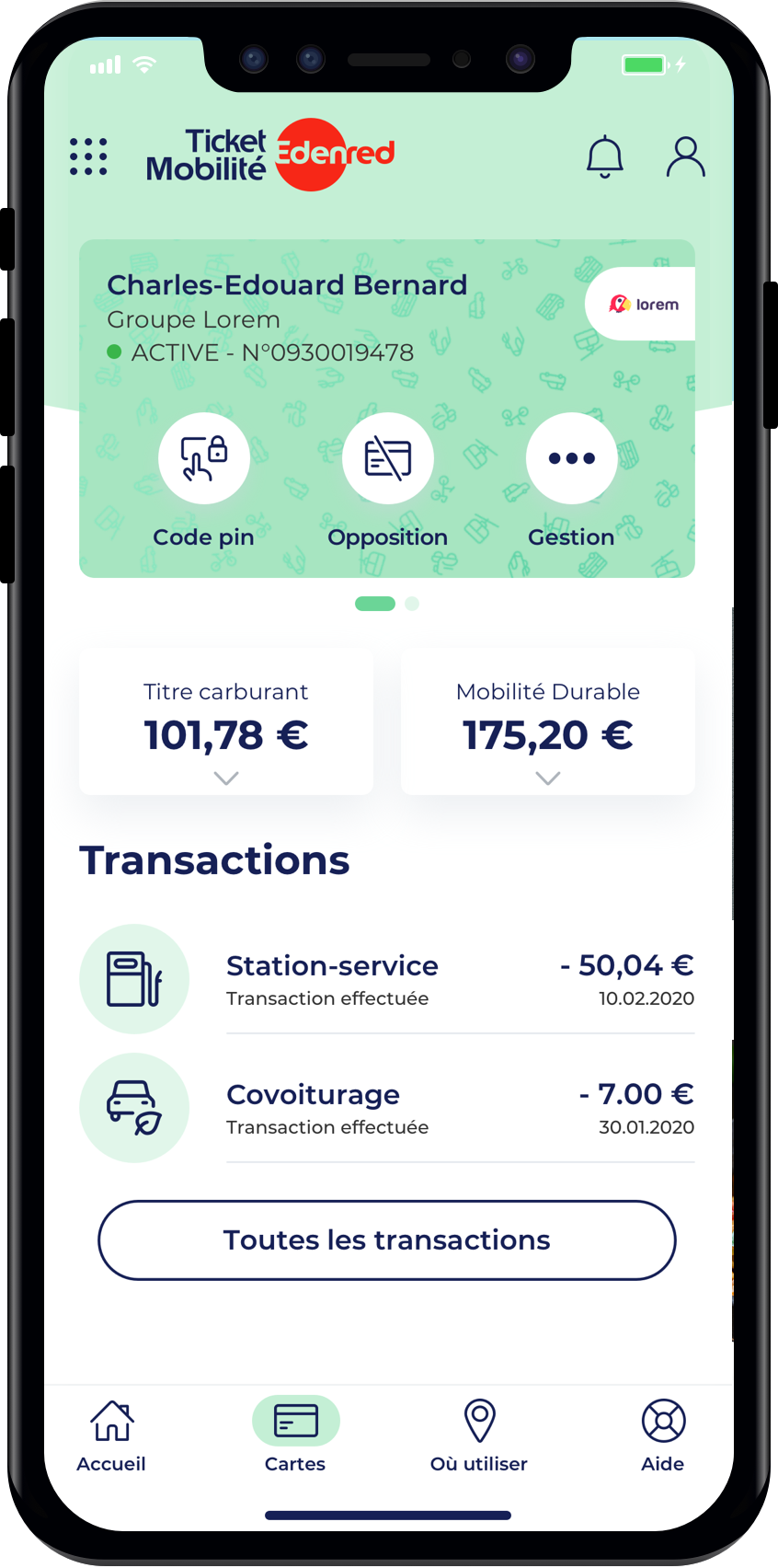 Edenred launches Ticket Mobilité, an account facilitating employer ...